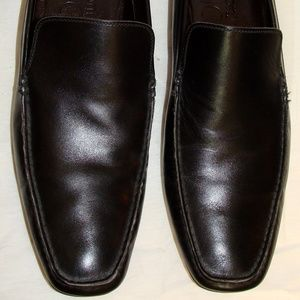 A.Testoni Basic Mens Black Loafers Shoes SZ 13M